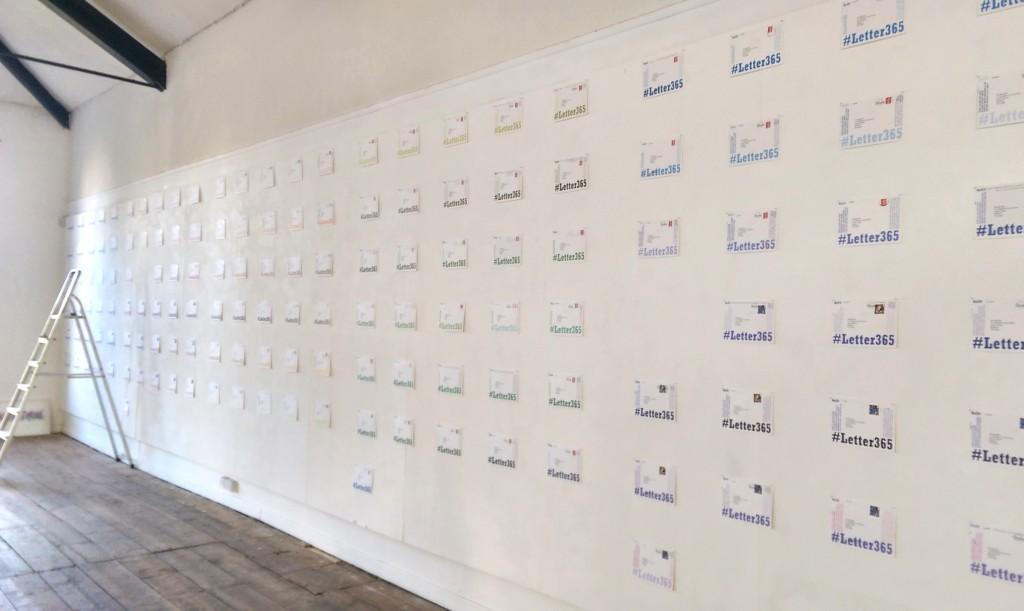Installing #Letter365 in the Allsop Gallery