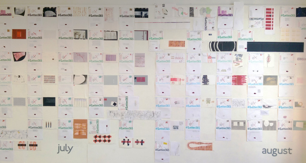 #Letter365 installation showing July and August letters all open