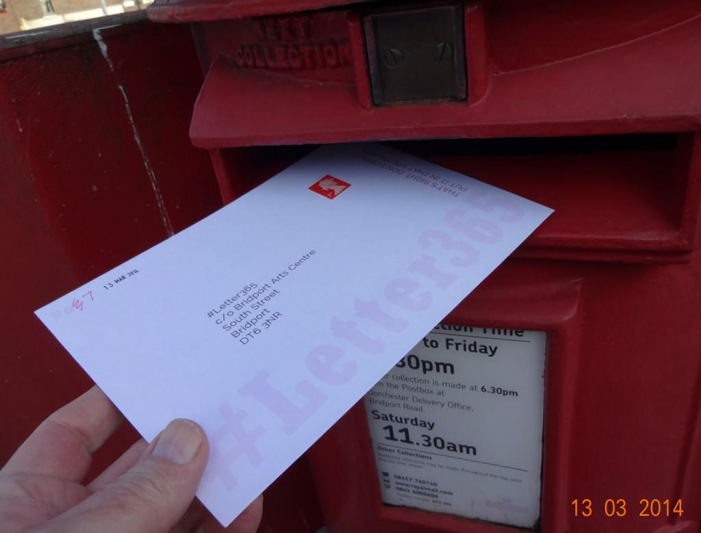 Dorchester post box swallows #Letter365 No7