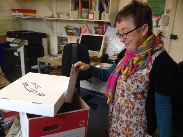 Jill Beed at Bridport Arts Centre posting #Letter365 No12