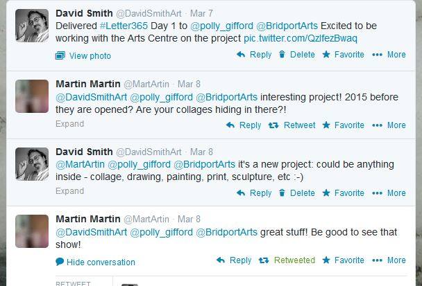 Martin Martin's initial tweets about #Letter365