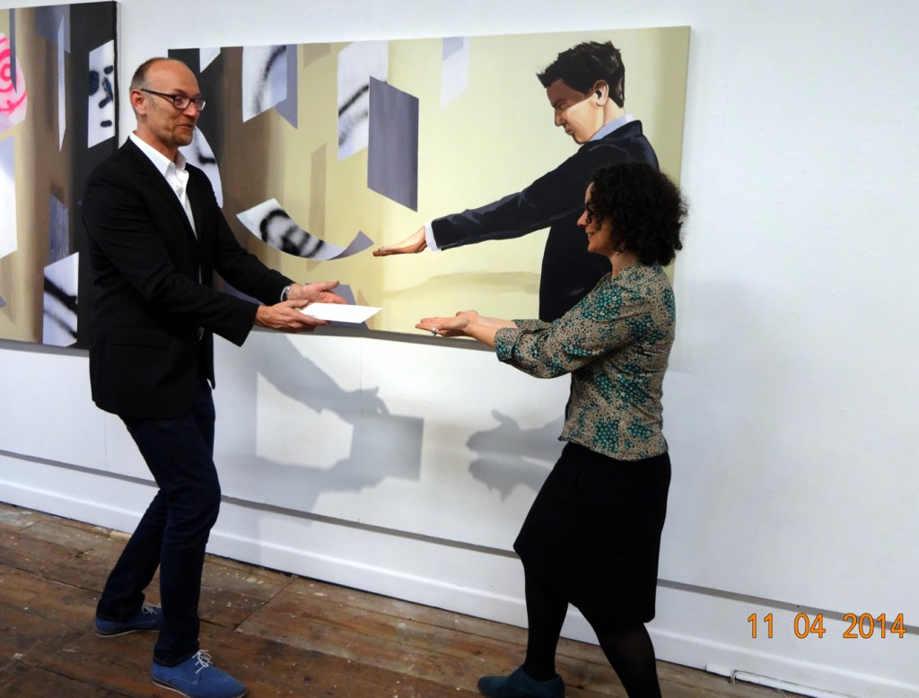 Christopher Winter levitates #Letter365 No36 into Polly Gifford's hands