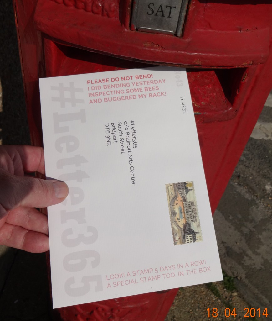 #Letter365 No43 goes in the box on a sunny Good Friday