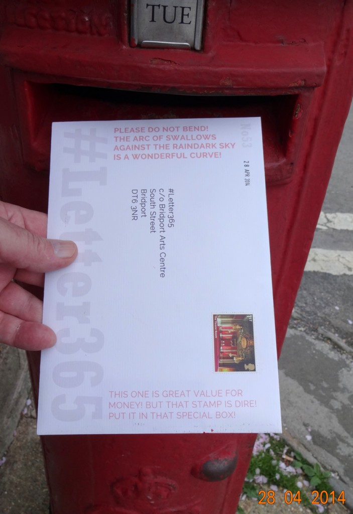 #Letter365 No53 goes in the post box