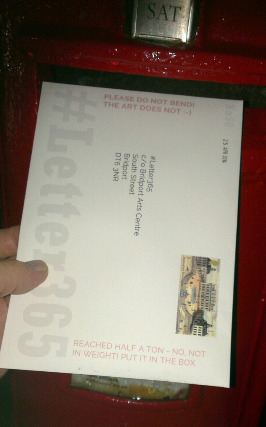 #Letter365 No 50 gets posted in Redditch after dark
