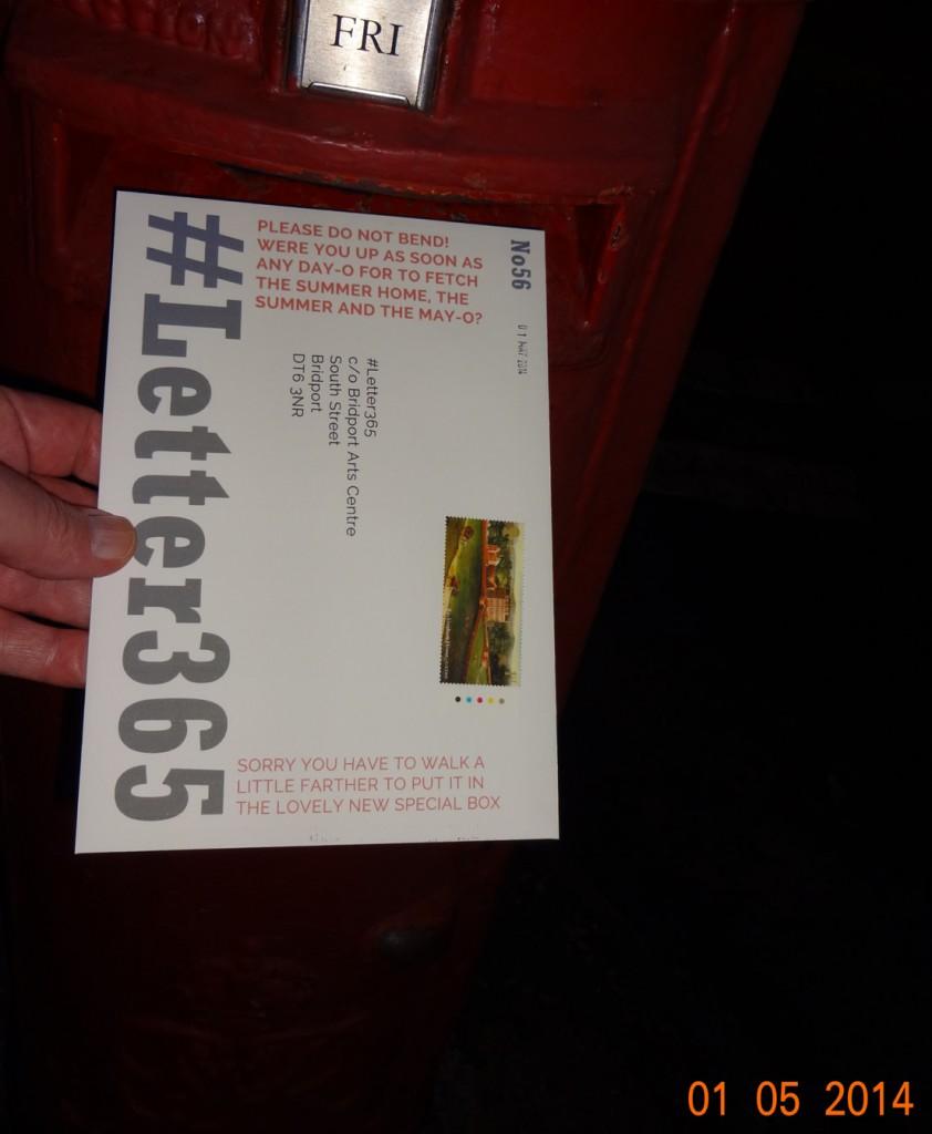 #Letter365 No56 gets posted after dark