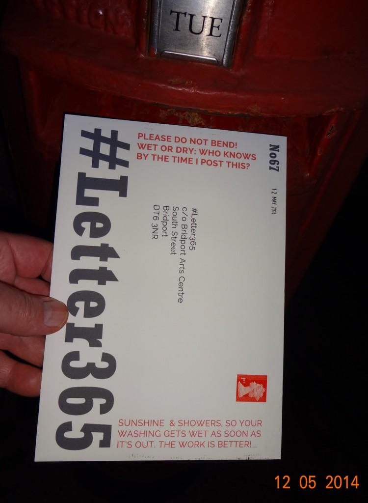 #Letter365 No67 gets put in the post box at night