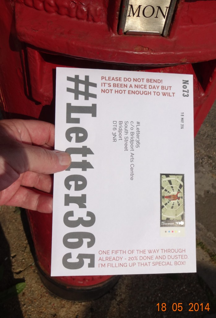 #Letter365 No73 gets posted in sunshine with a nice stamp!