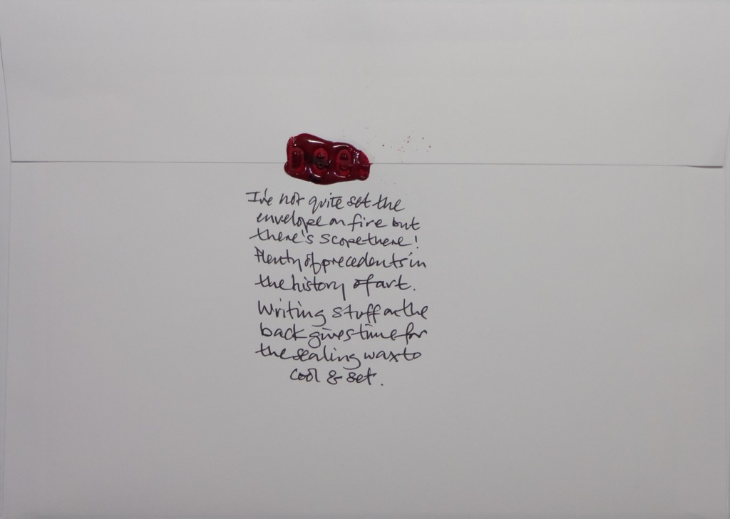 The back of No91's envelope