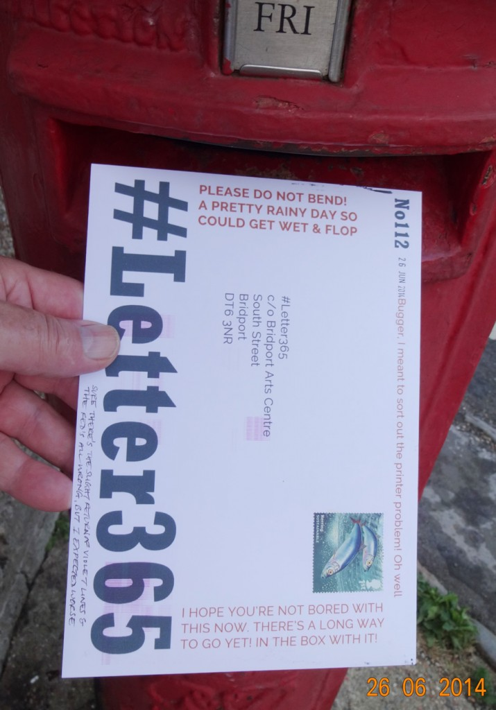 #Letter365 No112 goes in the post box