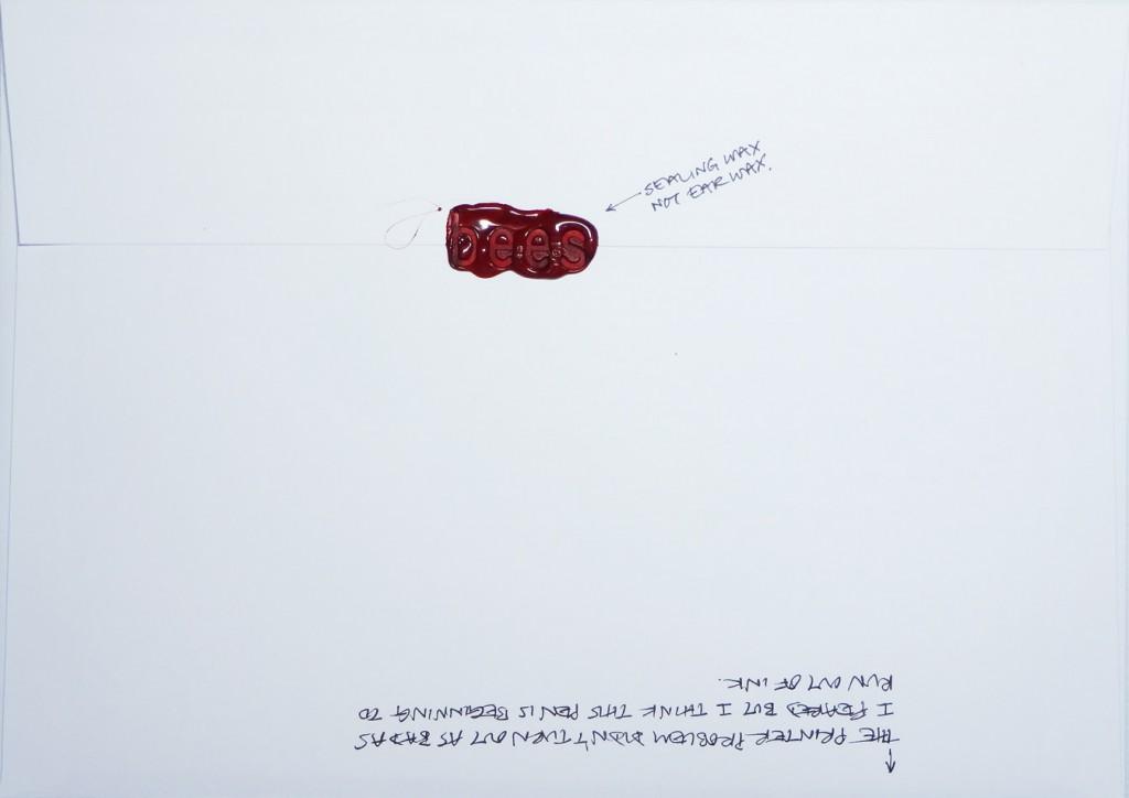 Back of #Letter365 No115