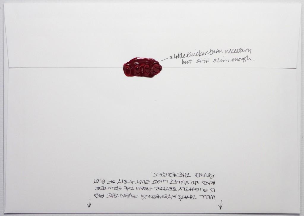 Back of #Letter365 No119