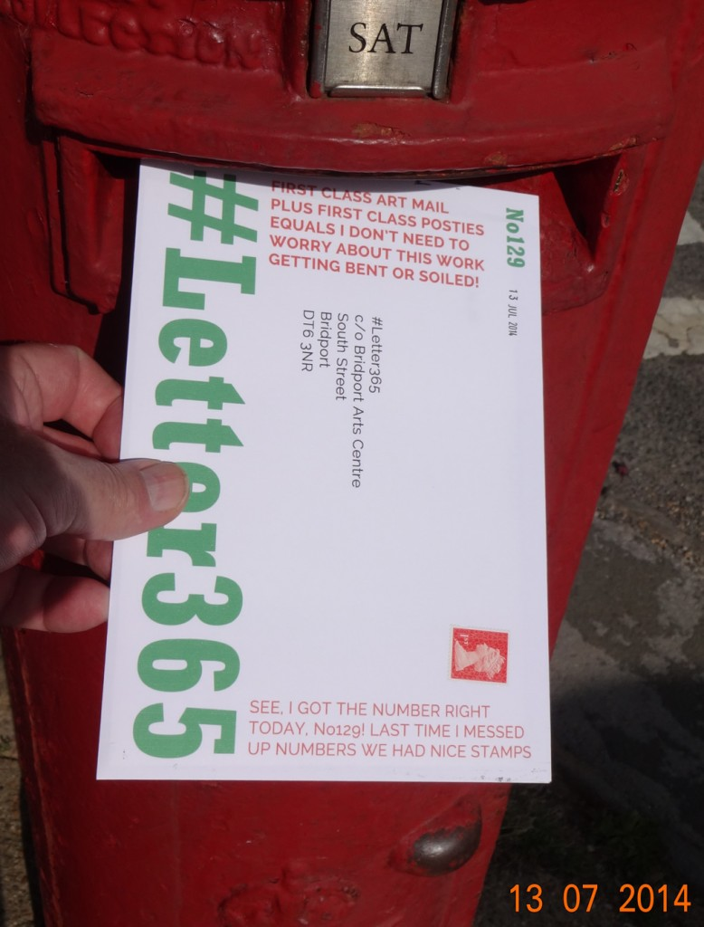 #Letter365 No129 gets posted