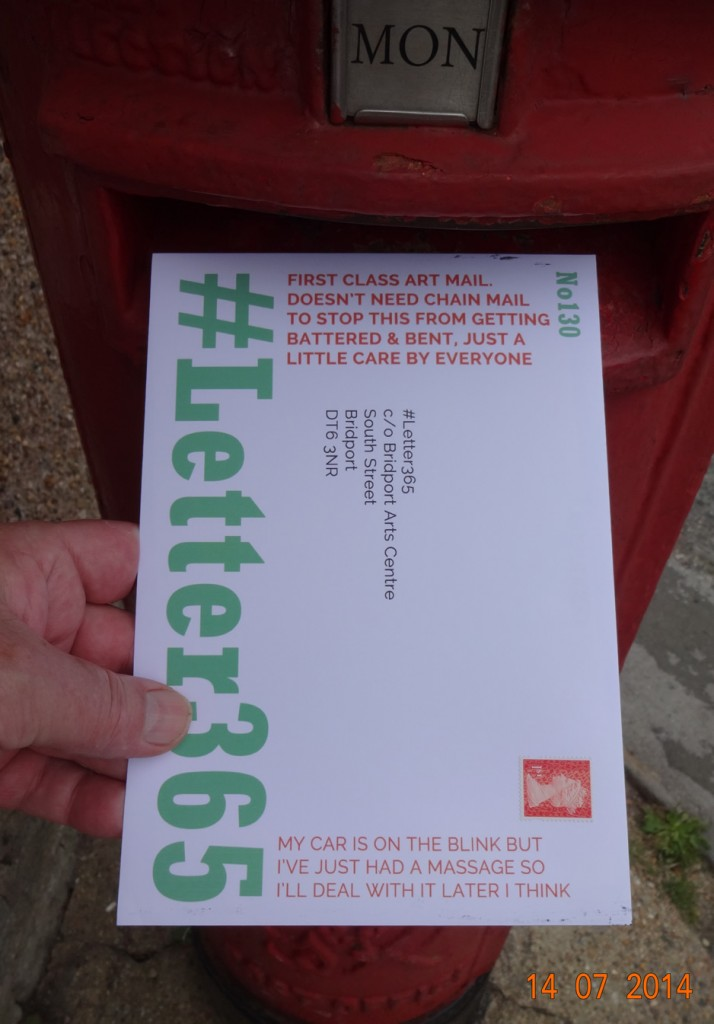 #Letter365 No130 goes in the box