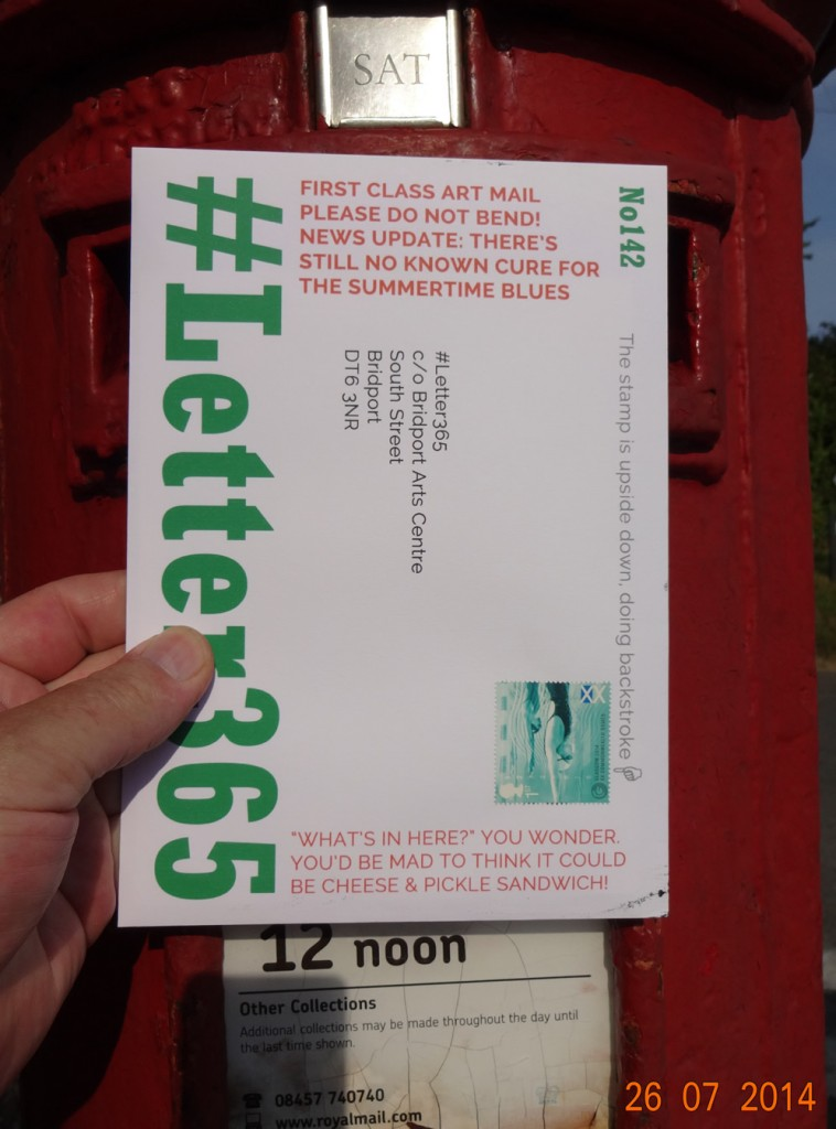 #Letter365 No142 goes in the box
