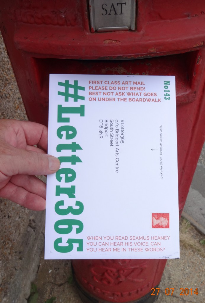 #Letter365 No143 goes in the box