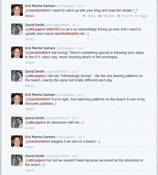 Screen grab of Twitter stream