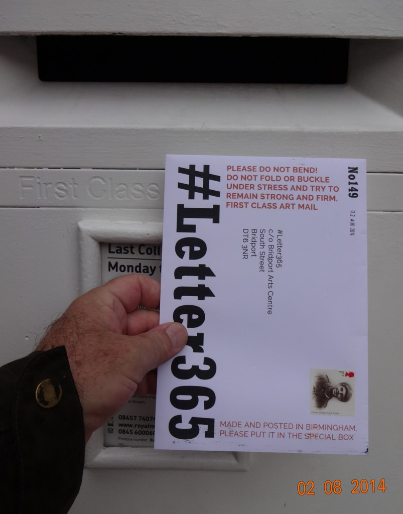 #Letter365 No149 gets posted in Birmingham