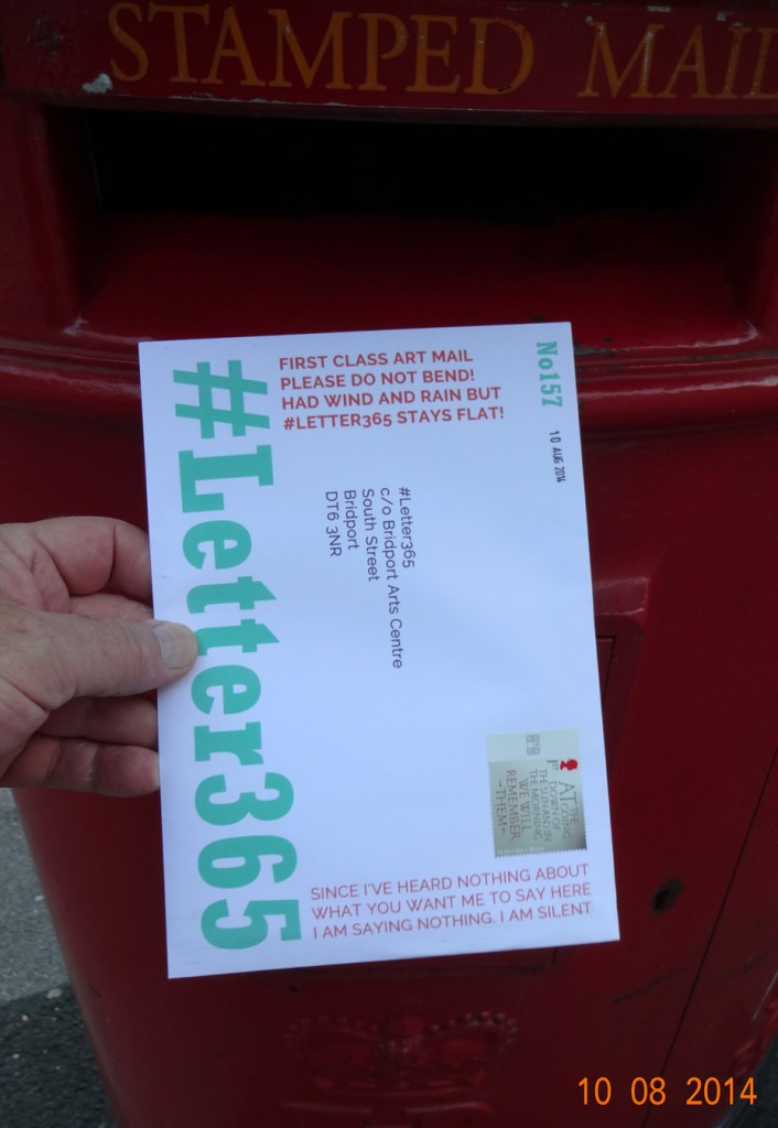 #Letter365 No157 goes in the post box