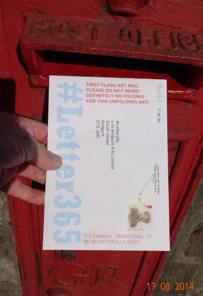 #Letter365 No164 goes in the box