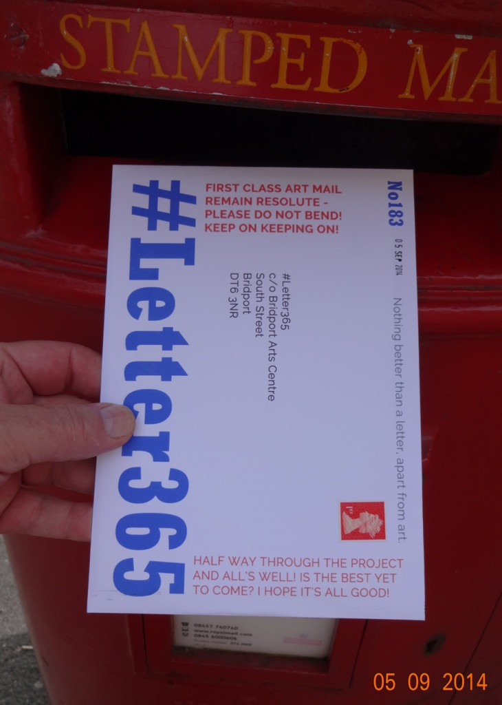 #Letter365 No183 goes in the box