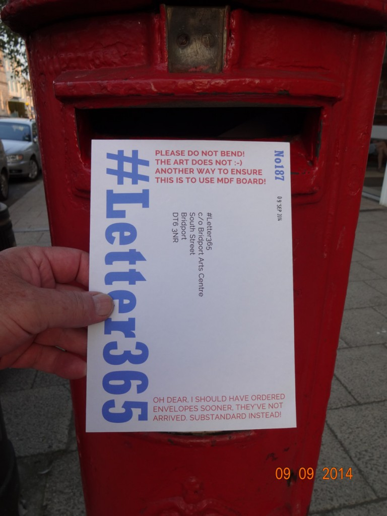 #Letter365 No187 goes in the box