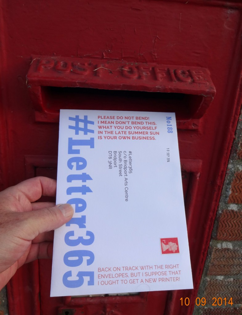 #Letter365 No188 goes in a post box I have not used before