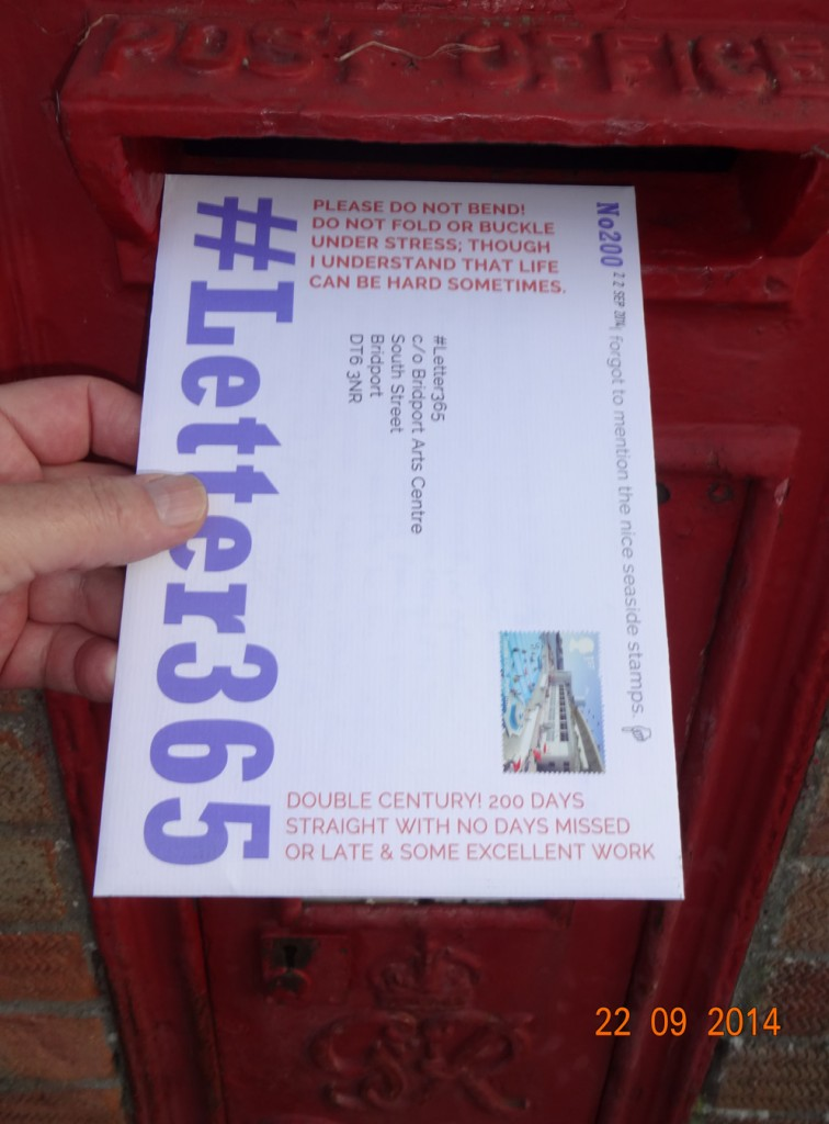 #Letter365 No200 goes in the postbox