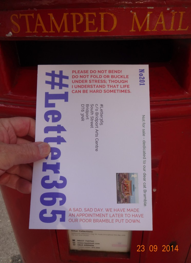 #Letter365 No201 goes in the box