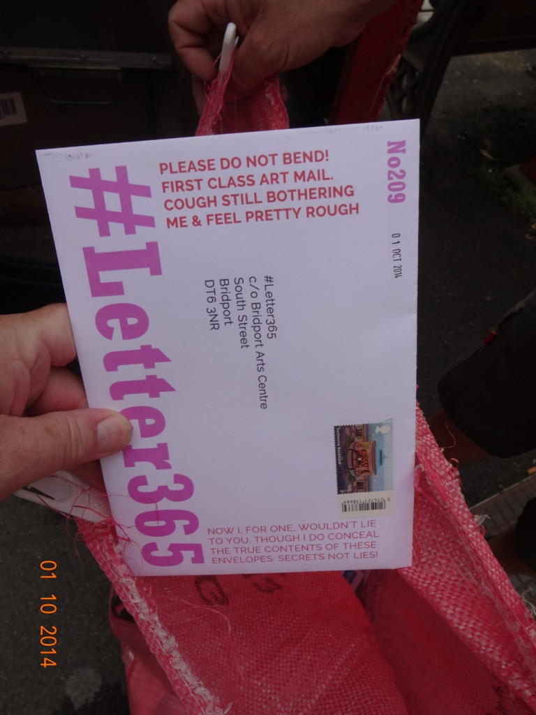 #Letter365 No209 goes in the bag