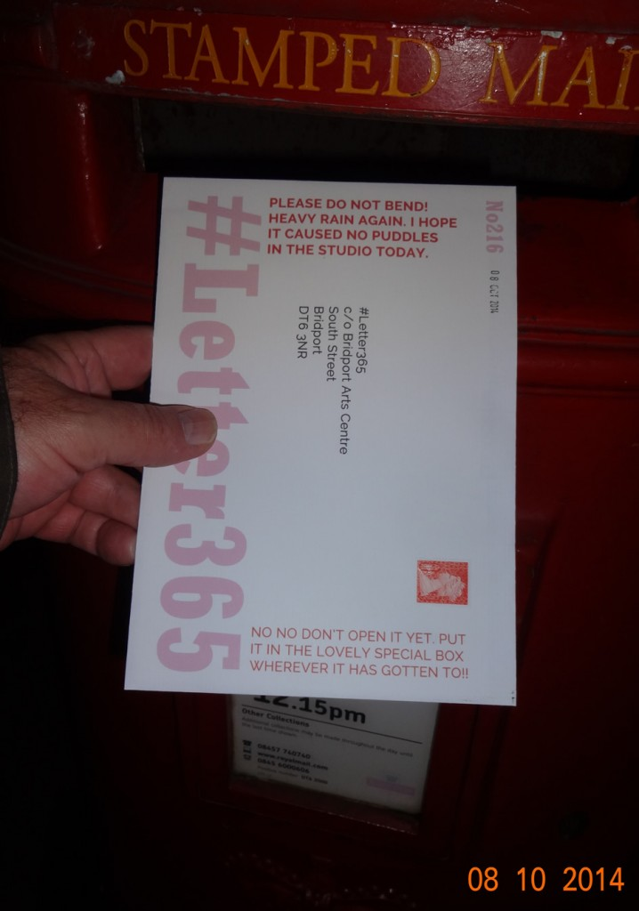#Letter365 No216 goes in the box