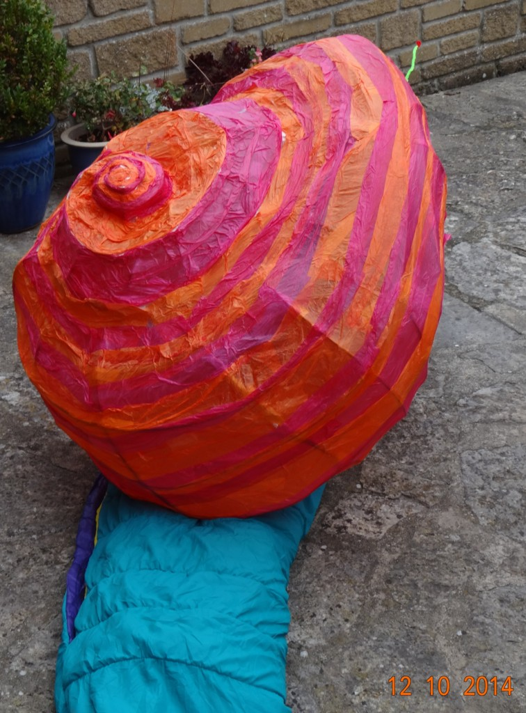 Giant banded snail takes #Letter365 No220