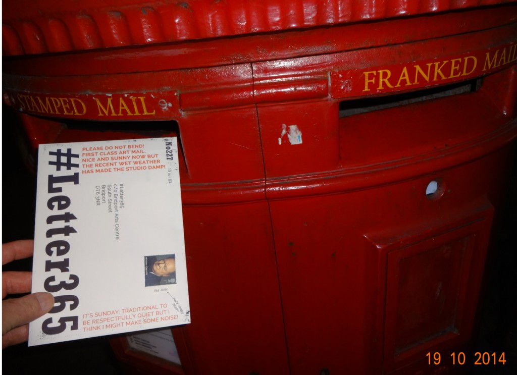 #Letter365 No227 is posted in the opening for stamped mail