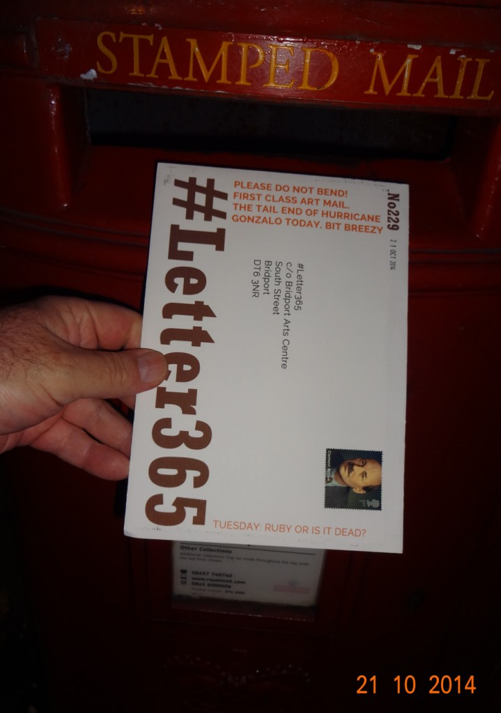 #Letter365 No229 goes in the box
