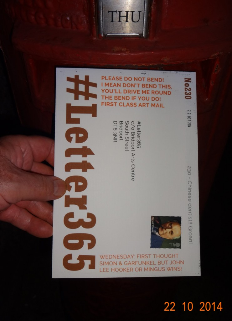 #Letter365 No230 goes in the box