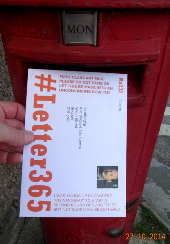 #'Letter365 No235 goes in the post