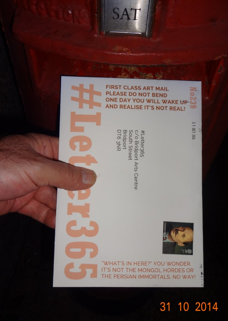 #Letter365 No239 goes in the box