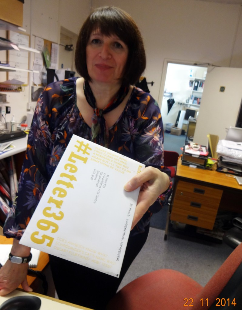 Dee Fenton is there to take delivery of #Letter365 No261