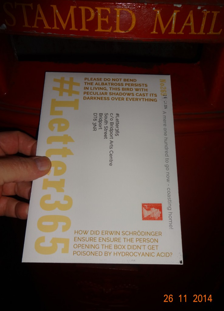 #Letter365 No265 goes in the box