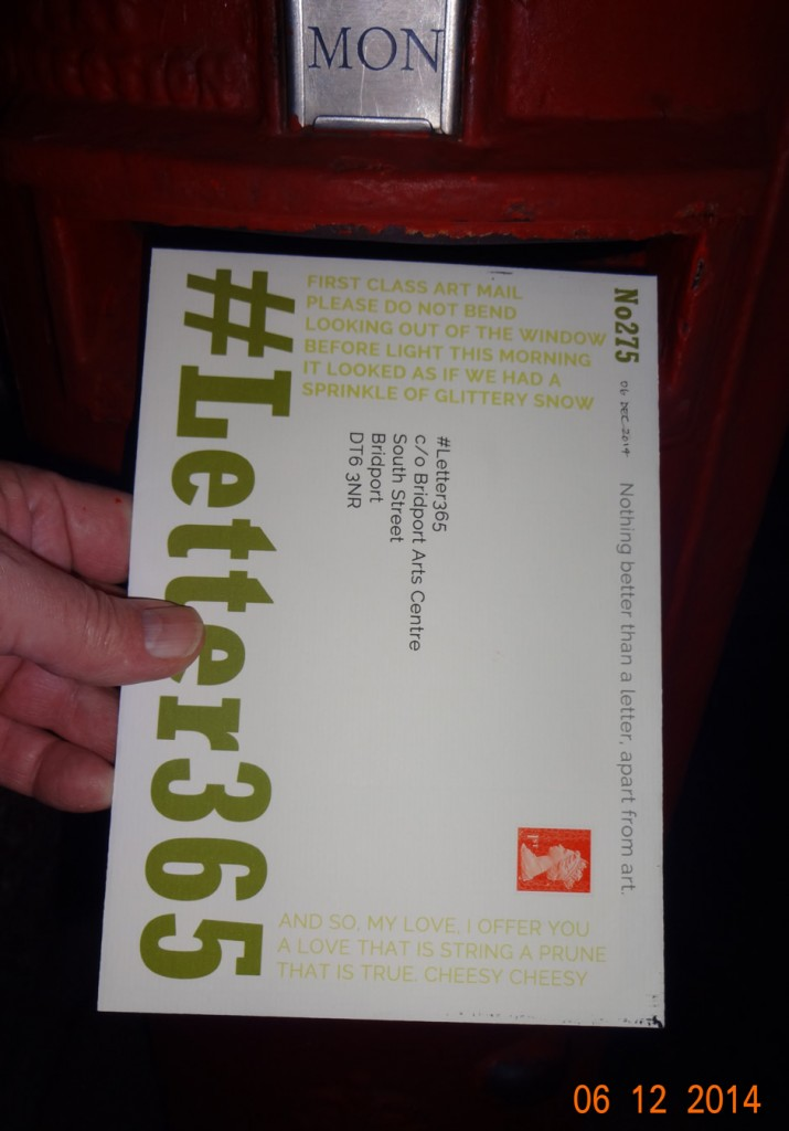 #Letter365 No275 goes in the box