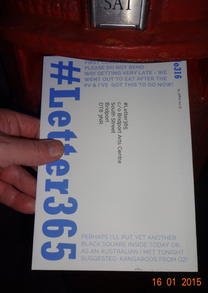 #Letter365 No316 goes in the box