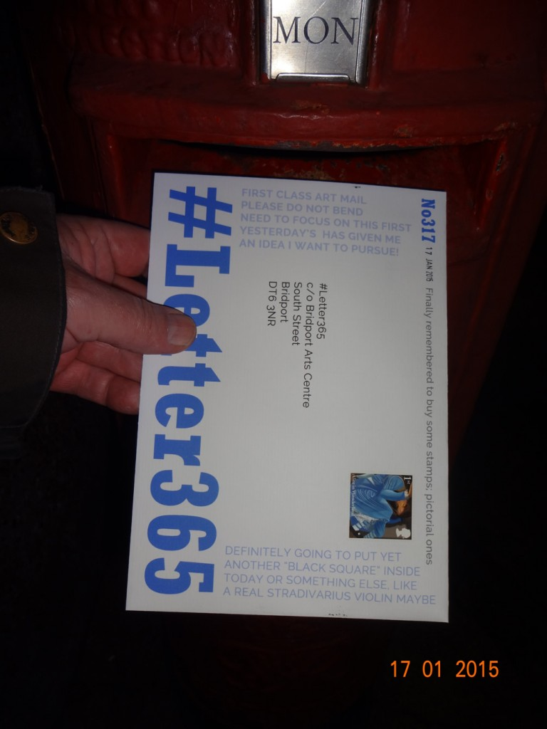 #Letter365 No317 goes in the box