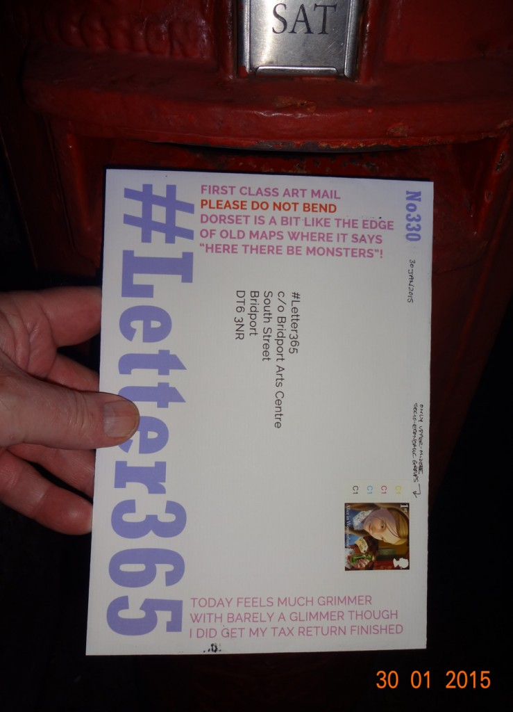 #Letter365 No330 goes in the box