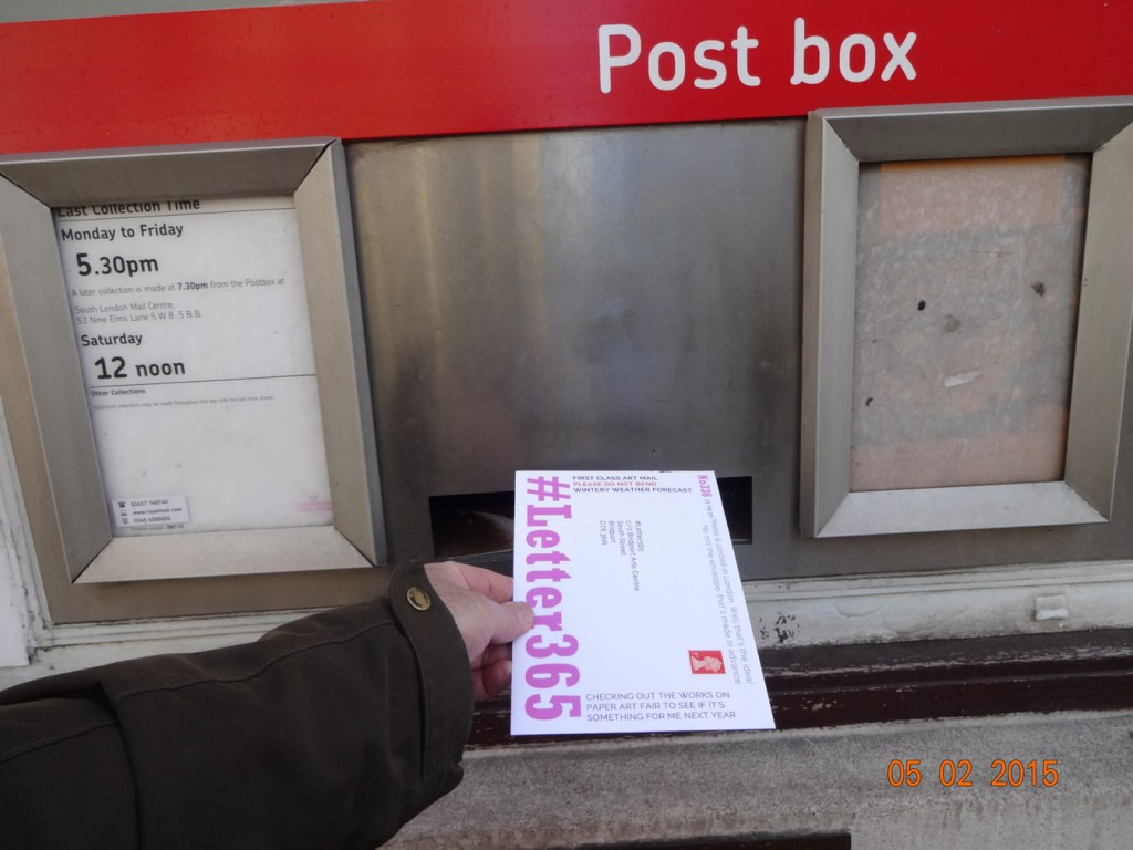 #Letter365 No336 goes in the box in South Kensington