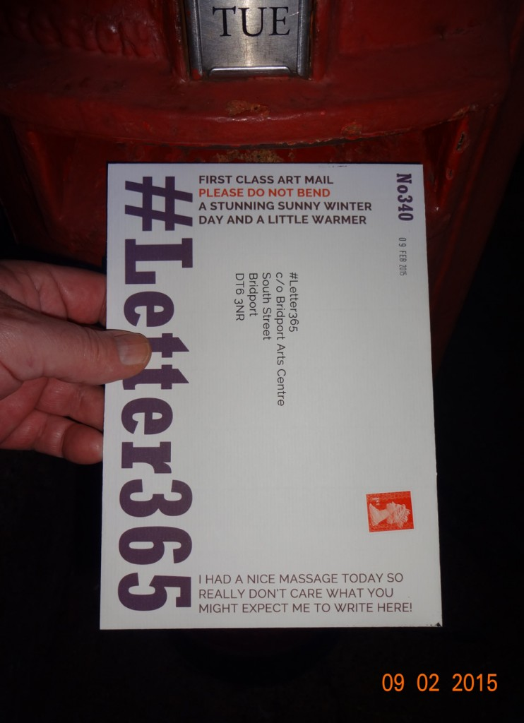 #Letter365 No340 gets posted
