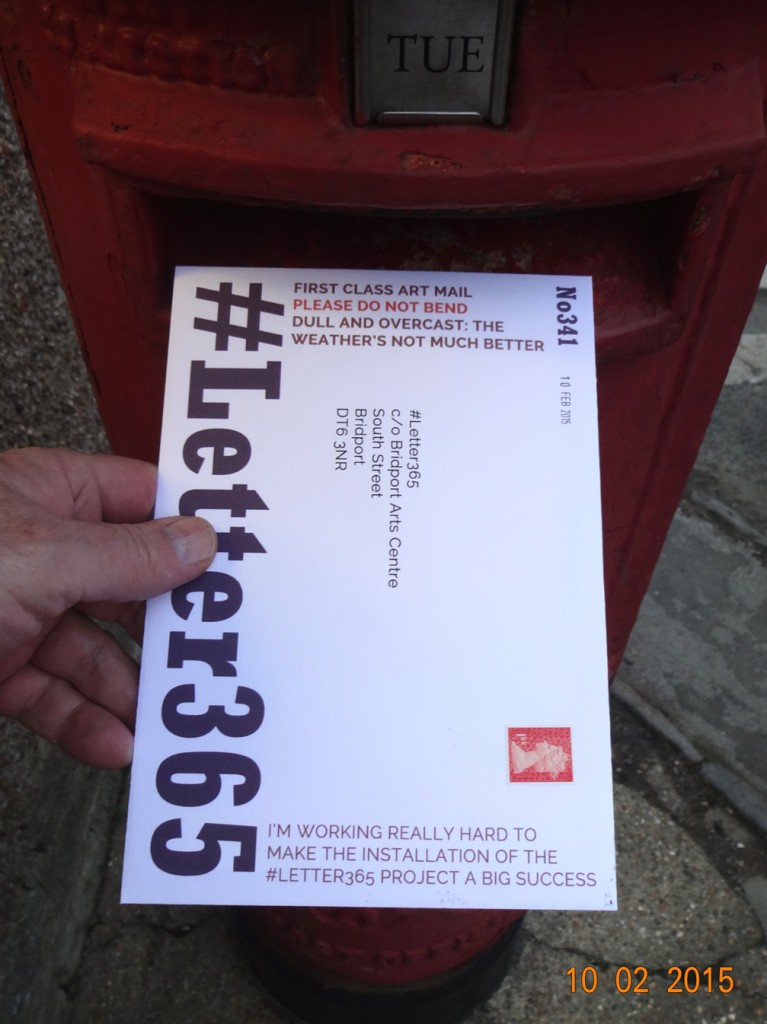 #Letter365 No341 gets posted in the dull light of a February day