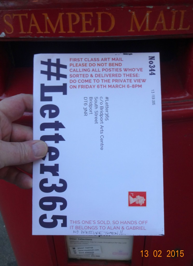 #Letter365 No344 goes in the postbox