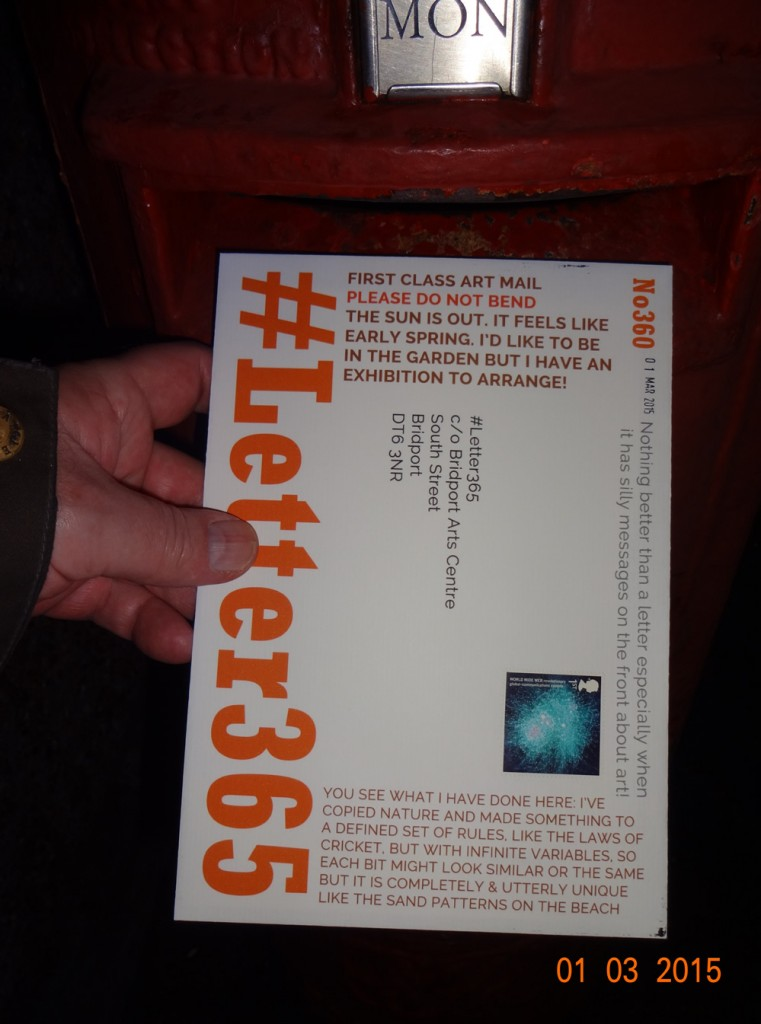 #Letter365 No360 goes in the postbox