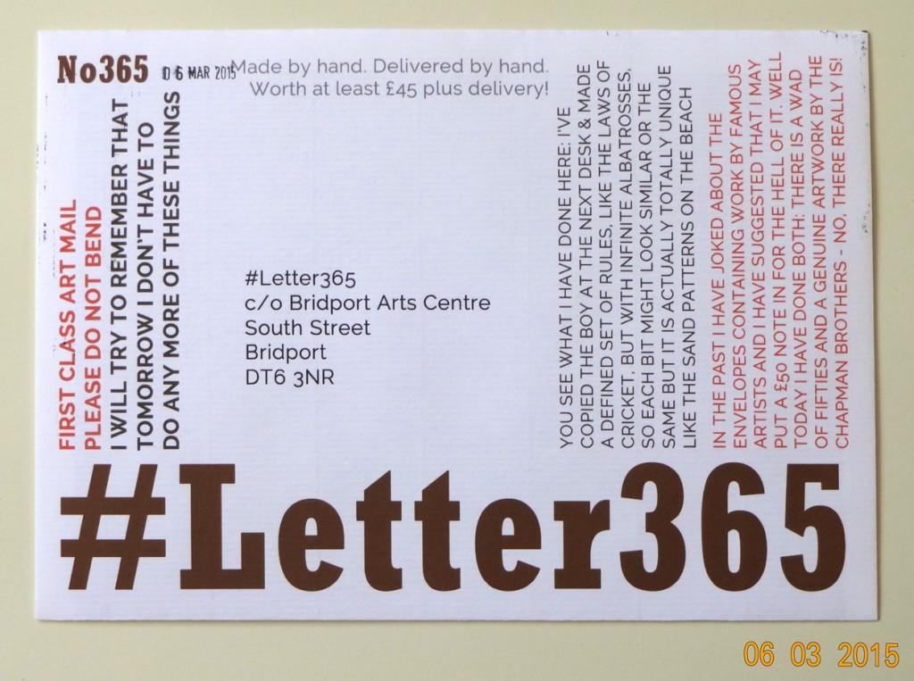 #Letter365 No356's envelope